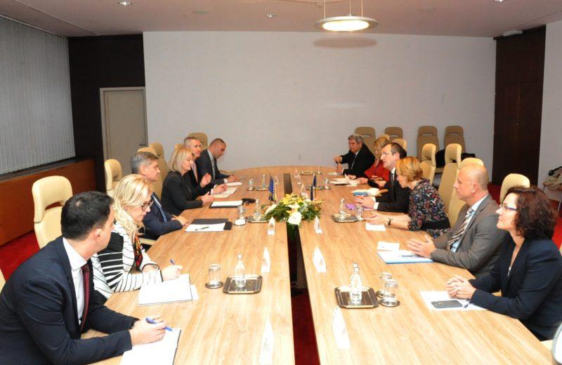 Krišto and Zvizdić meet with EP rapporteur Dan Preda