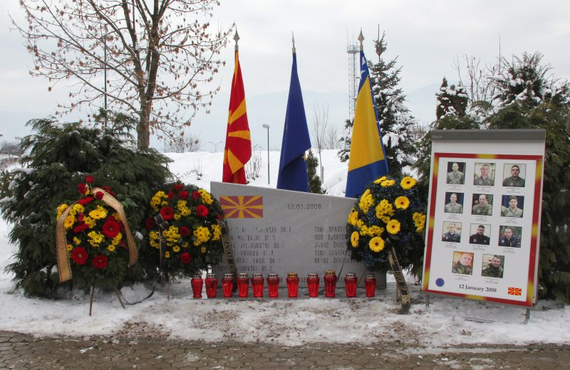 EUFOR holds helicopter crash remembrance ceremony at Butmir base