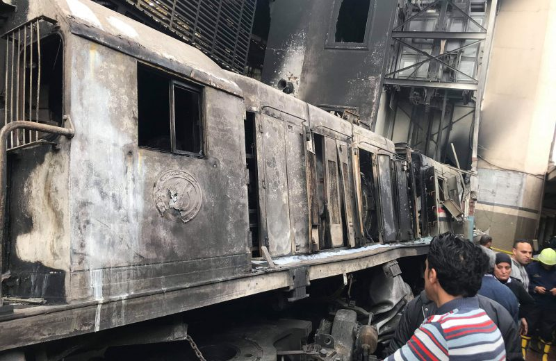 At least 20 killed in train station fire in Egypt's capital