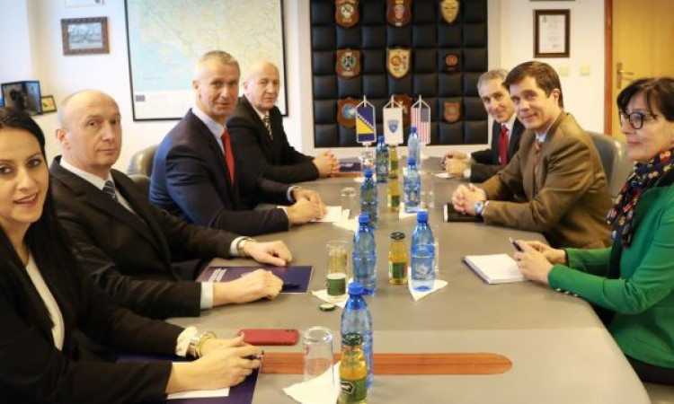 Ambassador Nelson visits BiH Directorate for Coordination of Police Bodies