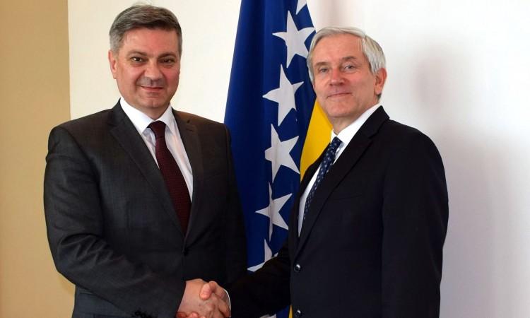 Chairman Zvizdić receives ambassadors of France and Germany