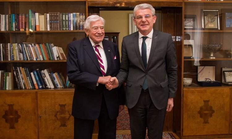 Džaferović receives former High Representative in BiH, Schwarz-Schilling