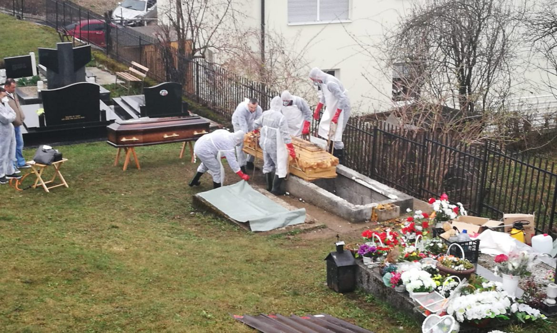 Posthumous remains of David Dragičević exhumed